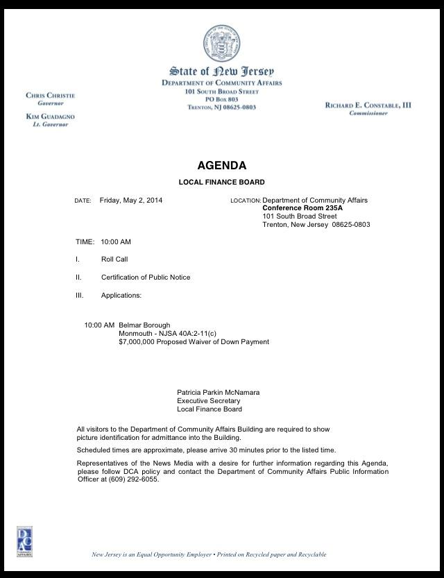 LFB agenda
