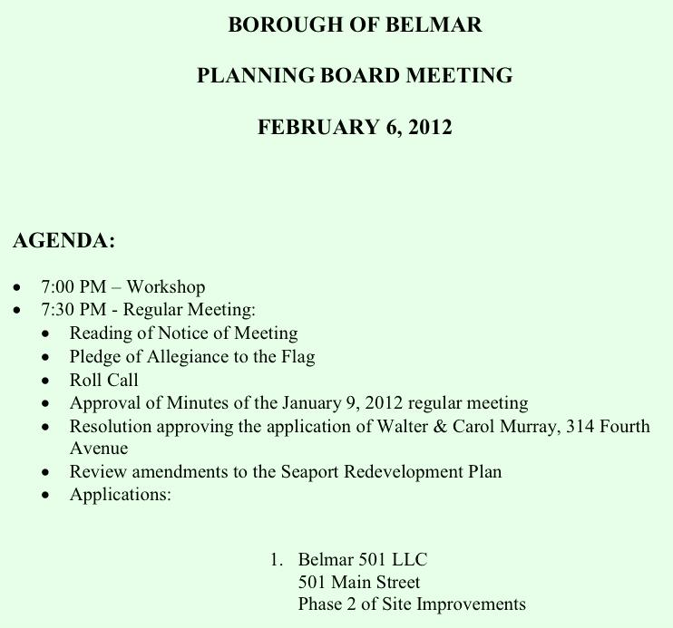 Common Sense For Belmar � Did Belmar Pocket Applicants ...