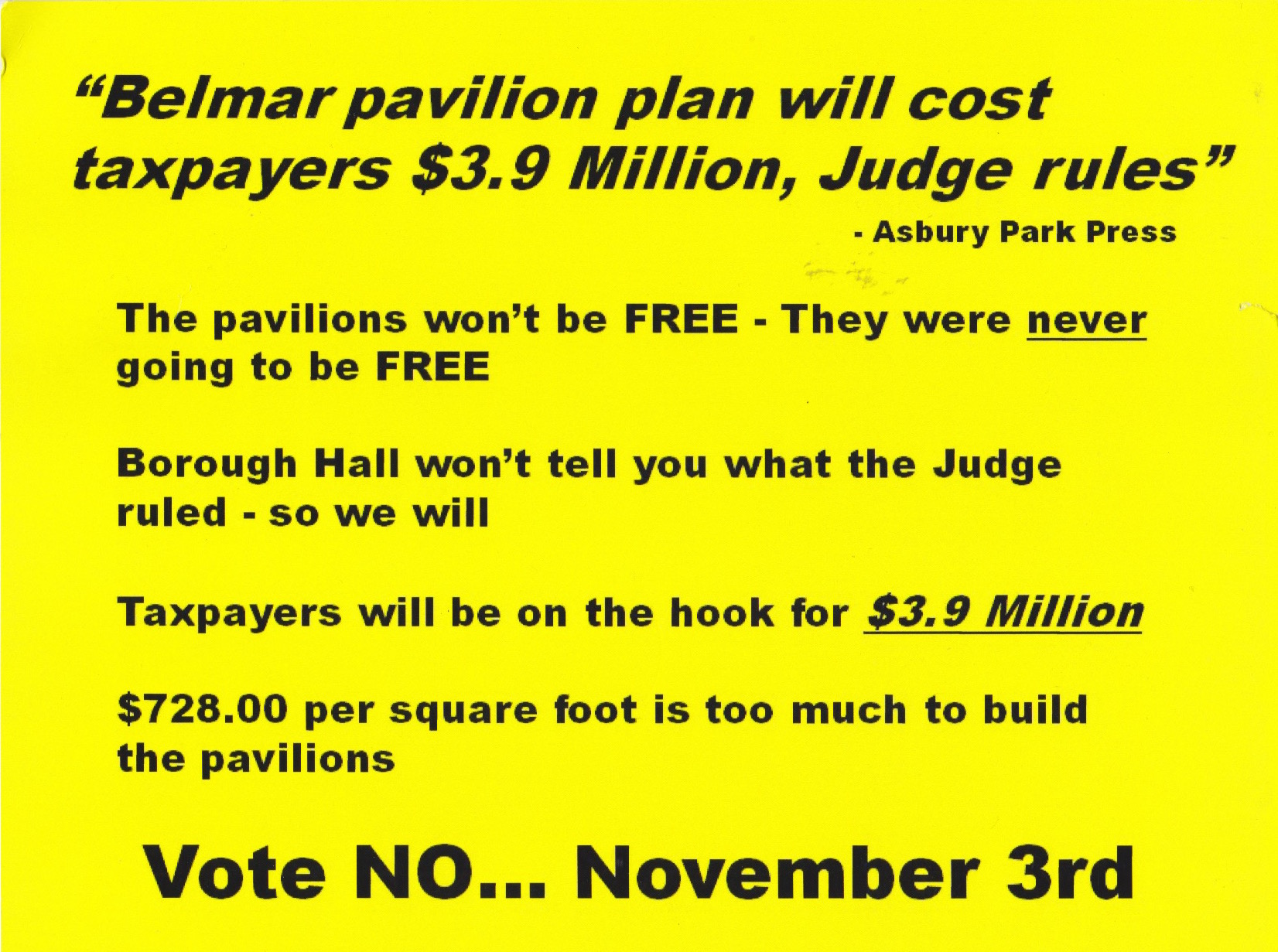 Common sense for belmar and now for something completely for Common sense for belmar