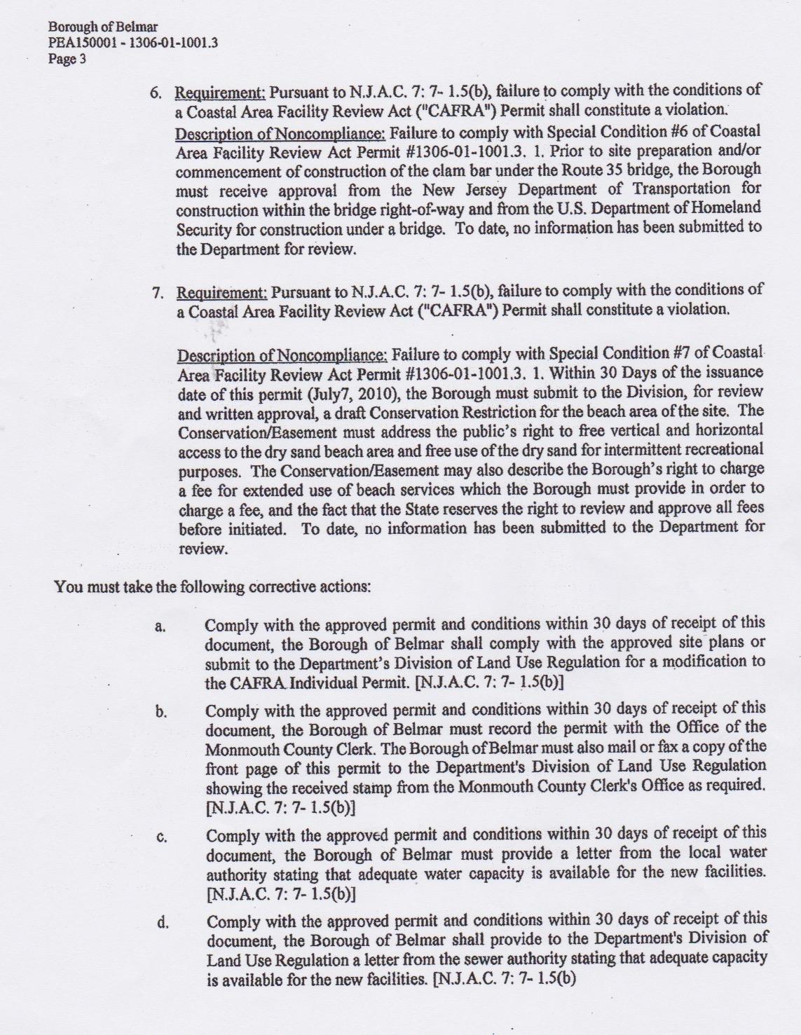 cafra violation notice 3