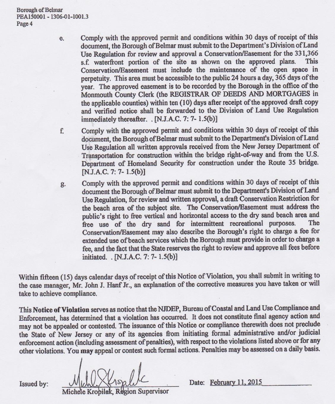cafra violation notice 4