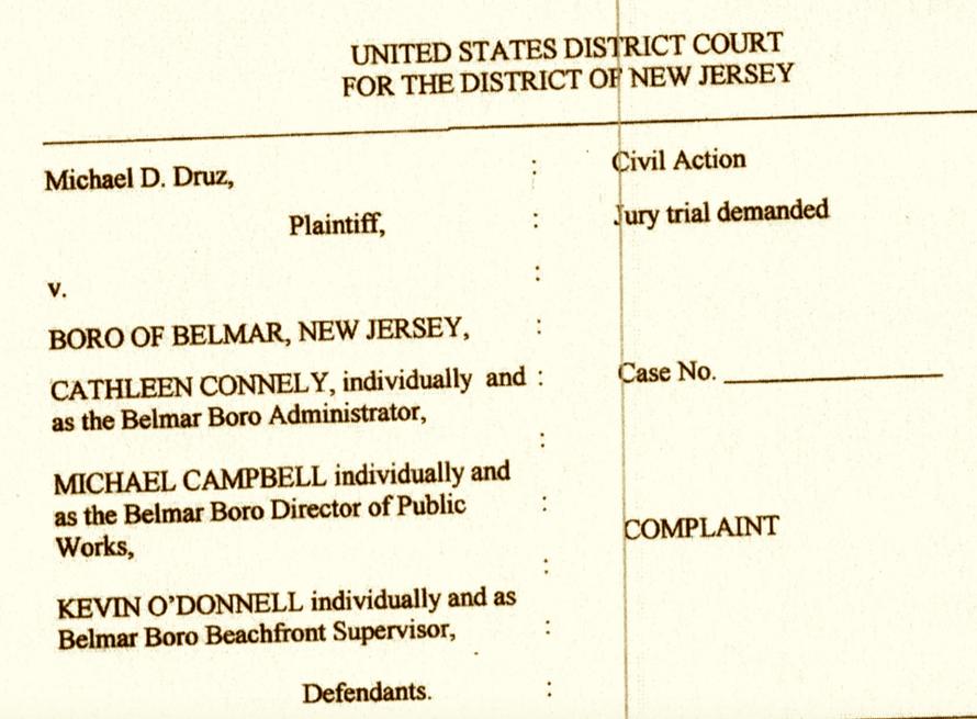 Common sense for belmar druz sues for Common sense for belmar