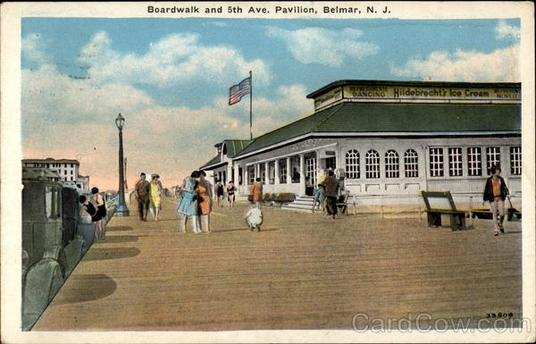 Boardwalk and 5th Ave. Pavilion, Belmar, N.J, NJ