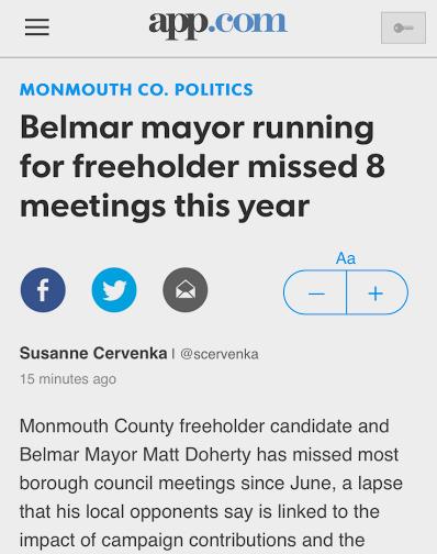 Common sense for belmar belmar s missing mayor for Common sense for belmar